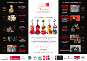 Programme Festival 2019
